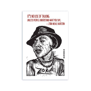 Zora Neale Hurston Postcard - Author Quote Postcard - African American Author - Female Authors - Postcards - Literary Postcards - Quotes