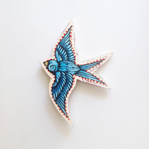 Bird Wall Art - Cutout Print on Wood