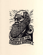 "Load image into Gallery viewer, Charles Darwin 8.5"" x 11"" Linocut Print"