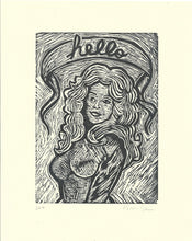 Load image into Gallery viewer, Dolly Parton Linocut Print