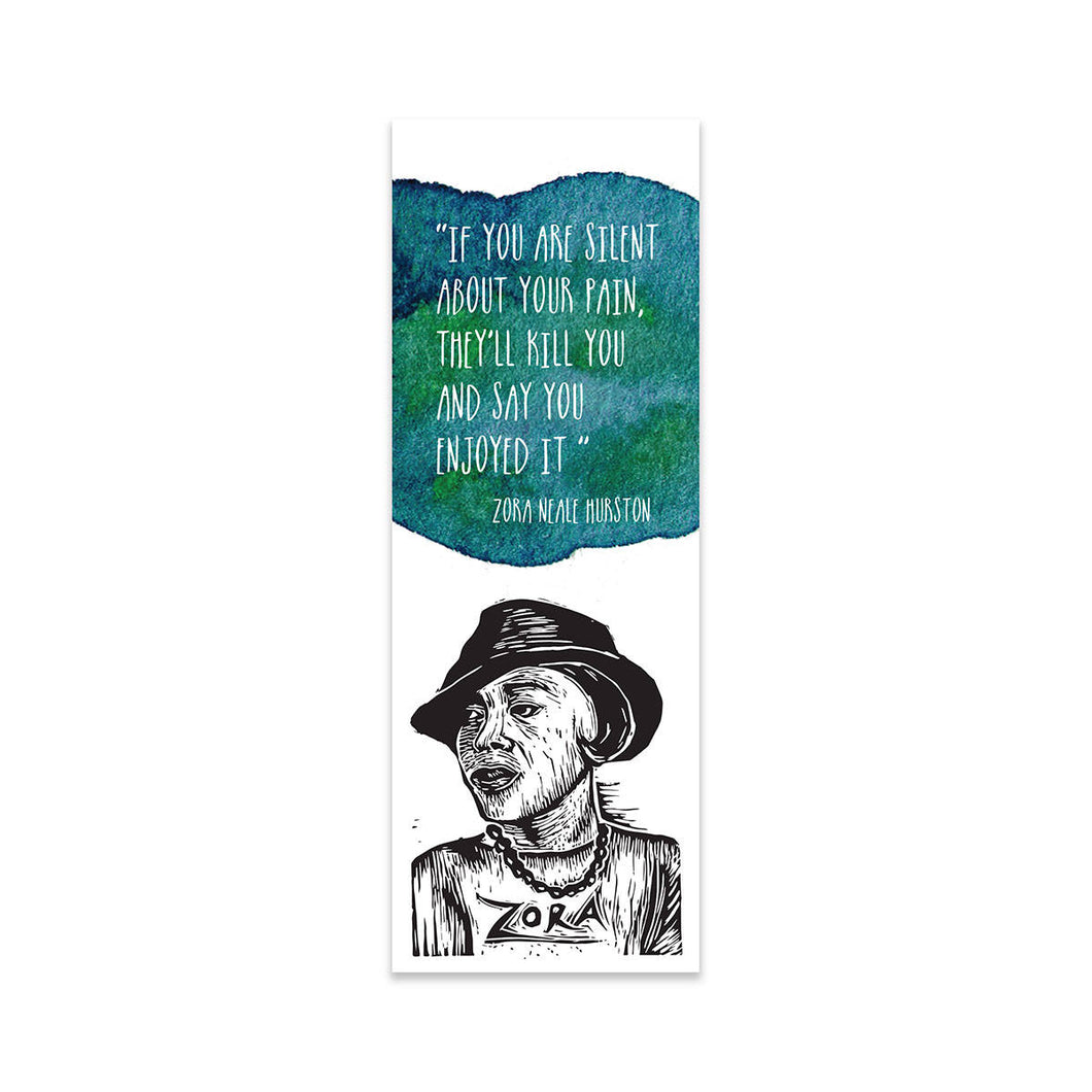 Zora Neale Hurston Bookmark - Author Quote - Bookmark - Bookmarks - Reader Gift - Stocking Stuffer - Gifts Under 5 - Small Gifts - Literary