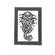 Load image into Gallery viewer, Harry Potter Patch - Dark Mark - Sew On Punk Patch - Snake and Skull Patch - Black and White Canvas Patch - Small Jacket Patches