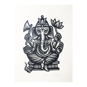 Ganesha Wall Art - Yoga Art - Indian Wall Art - Elephant Decor - Home Decor - Yoga Studio Decor