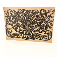 Load image into Gallery viewer, Tree Card - Environmental Preservation Card - Greeting Cards - Tree Notecards - Just Because Cards - Nature Card - Tree Linocut Art - Paper