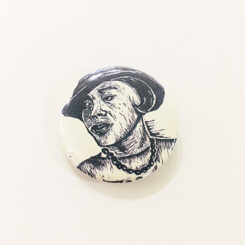Zora Neale Hurston Button - African American Author Art - Author Buttons - Pins - Geeky Buttons - Writer Gifts - Stocking Stuffers