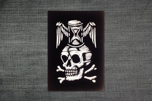 Memento Mori Black Patch - Patches - Punk Patches - Patches for Jackets - Skull Patch