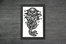 Load image into Gallery viewer, Punk Patches - Dark Mark Symbol - Harry Potter Patch - Sew On Patches - Punk Patch - Snake Patch - Skull Patch - Jacket Patches