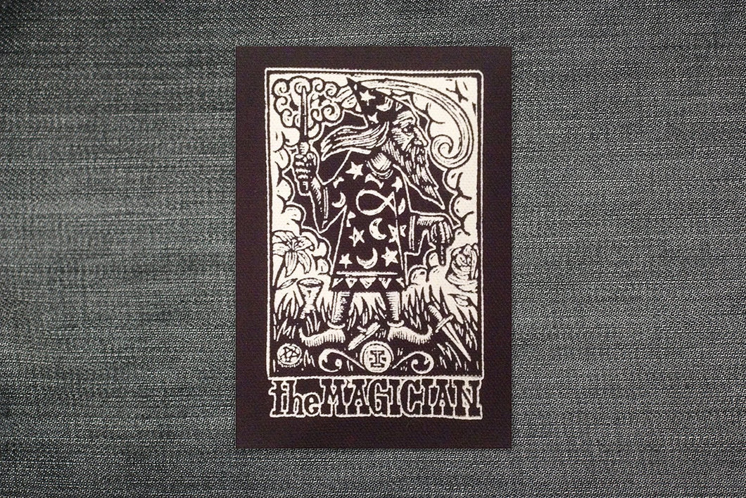 Punk Patches - Tarot Card Sew On Punk - Magican Tarot Patch - Sew On Punk Patch -  Tarot Card Patch - Wizard Patch - Jacket Patches