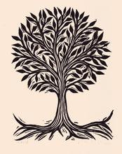 "Load image into Gallery viewer, 8.5"" x 11"" Tree Linocut Art Print"