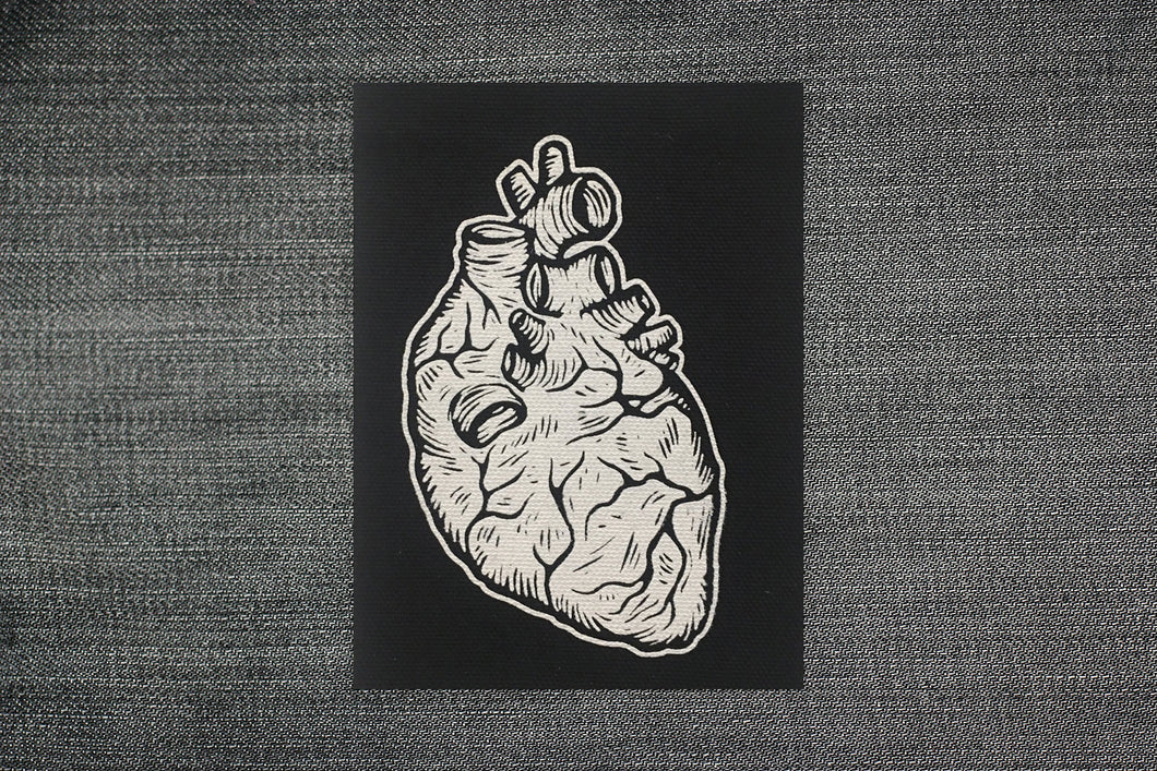 Patches for Jackets - Anatomical Heart Sew On Punk Patches - Heart Badge Reel