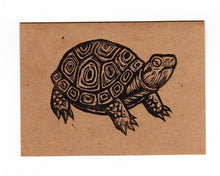 Load image into Gallery viewer, Note Cards - Turtle Note Cards - Linocut Art - Greeting Card - Blank Note Cards - Animal Note Cards - Cards - Greeting Cards - Card Sets