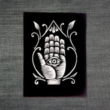 Load image into Gallery viewer, Patches for Jackets - Sew On Patches - Goth Patch - Evil Eye - Hand with Eye - Punk Patches - Witchy Gifts