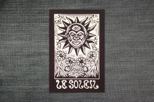 Tarot Card Sew On Patch - Sun Tarot Card - Punk Patch - Black Canvas Patch - Jacket Patch - Sew On Patch - Hippie Patch - Gifts for Teens