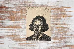 Flannery O'Connor Letterpress Postcard