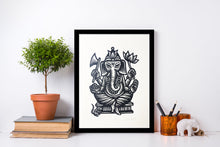 Load image into Gallery viewer, Ganesha Wall Art - Yoga Art - Indian Wall Art - Elephant Decor - Home Decor - Yoga Studio Decor