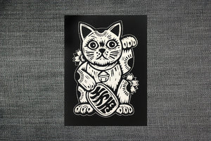 Patches for Jackets - Lucky Cat Sew On Patch - Maneki-neko - Punk Patches - Lucky Charms - Talismans