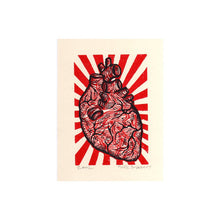 Load image into Gallery viewer, Anatomical Heart Linocut Art Print