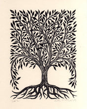 Load image into Gallery viewer, Tree Linocut Art Print