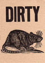 Load image into Gallery viewer, Dirty Rat Letterpress Postcard