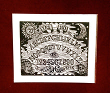 Load image into Gallery viewer, Gothic Home Decor - Vintage Ouija Board Woodcut Art Print - Occult Home Decor - Ouija Board Sign  - Goth Art - Witch Gift - Witch Art
