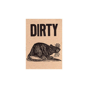 Dirty Rat Letterpress Postcard