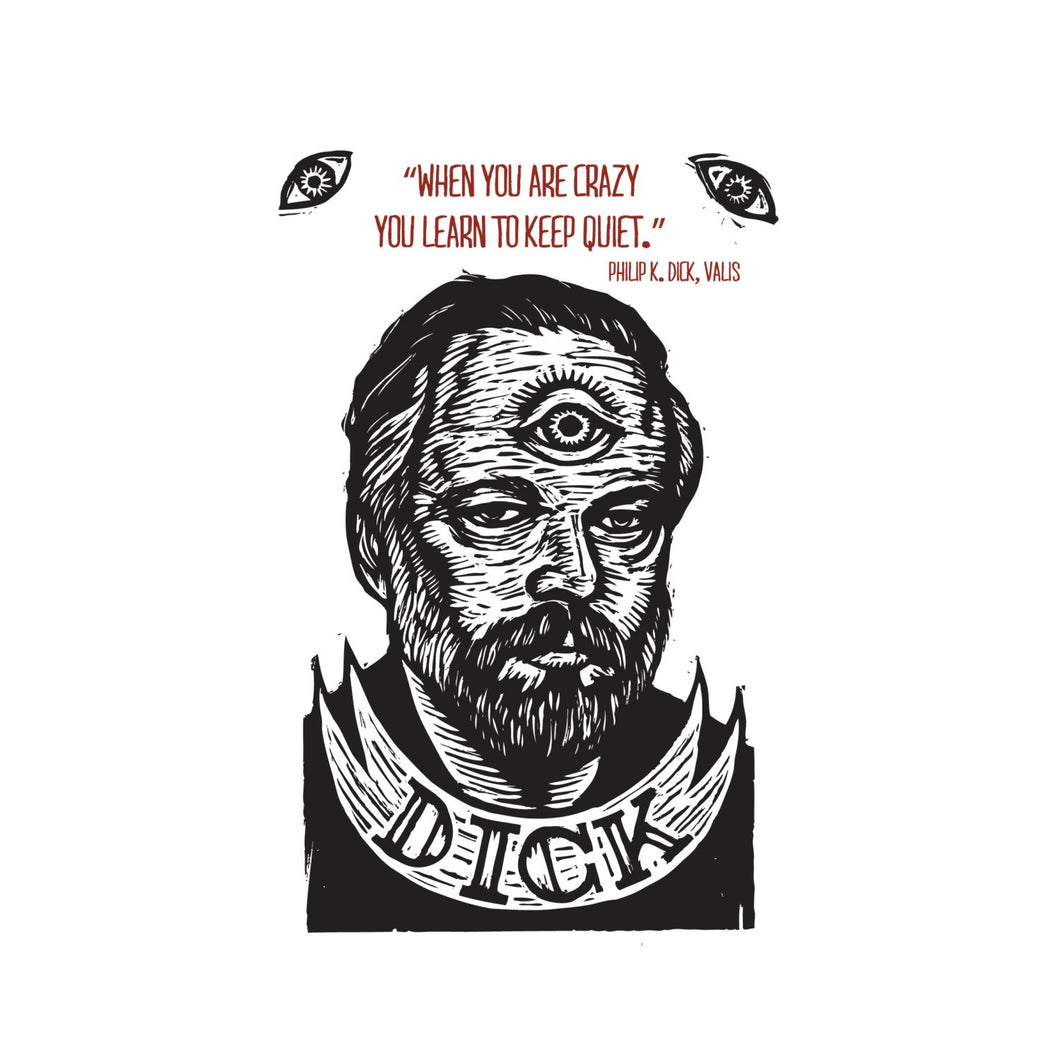 Philip K Dick Quote Postcard - Author Quote - Science Fiction - Literary Art Card - Author Postcards - Writer Gift - Cards - Bookstore Gifts