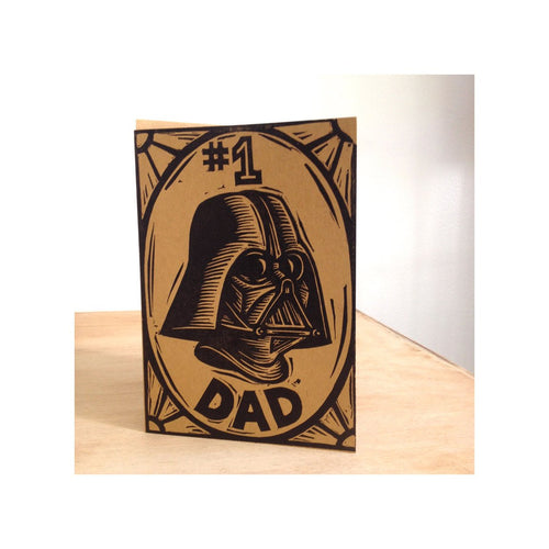 #1 Dad Darth Vader Greeting Card