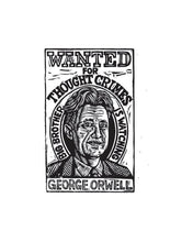 Load image into Gallery viewer, George Orwell Postcard - Literary Postcard - Author Postcard - Writer Gift - Postcards - 1984 Art - Orwell Art - Big Brother is Watching