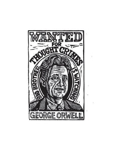 George Orwell Postcard - Literary Postcard - Author Postcard - Writer Gift - Postcards - 1984 Art - Orwell Art - Big Brother is Watching