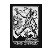 Load image into Gallery viewer, Patches for Jacket - Sew On Black and White Canvas Patch - Tarot Art Patch - The Fool Tarot - Punk Patches