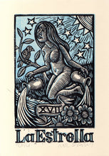 Load image into Gallery viewer, La Estrella (The Star) Tarot Card Linocut Art Print