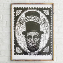 Load image into Gallery viewer, Abraham Lincoln Woodcut
