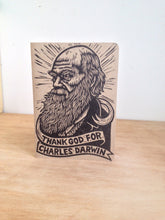 Load image into Gallery viewer, Travel Bullet Journal - Notebook - Charles Darwin Large Travel Journal -  Thank God for Charles Darwin Notebook - Science Teacher Gift
