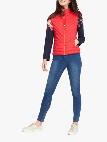 Joules Brindley gilet - Redcurrant