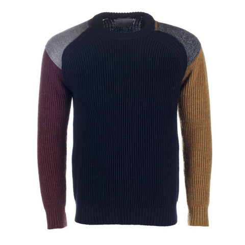 Harris tweed Funky Jumper - Navy/Shiraz