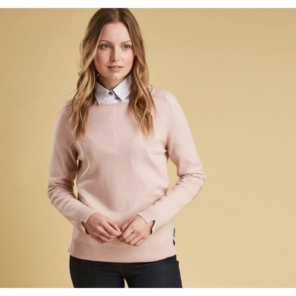 Barbour Pendle crew sweater- Blush Pink