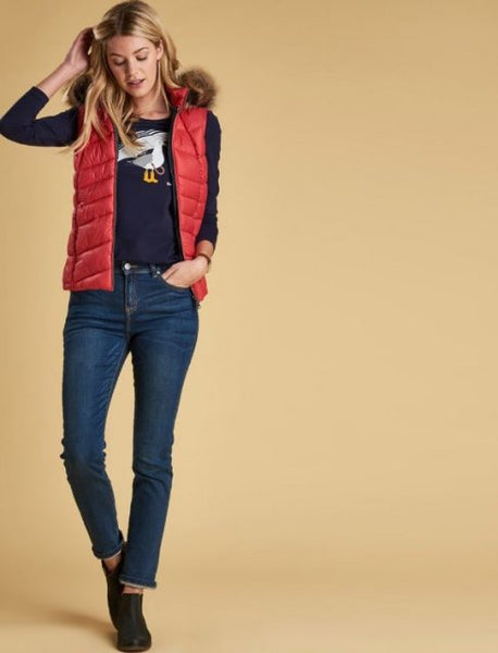Barbour Bernera Gilet REEF RED