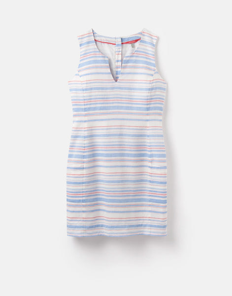 Joules Elayna dress - White Blue Pink stripe