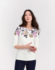 Joules Harbour top with 3/4 length sleeves -  Floral