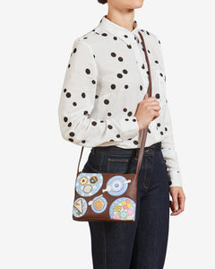 Brown Yoshi Afternoon Tea Cross Body Bag