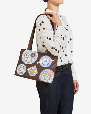 Brown Yoshi Afternoon Tea Shoulder Bag