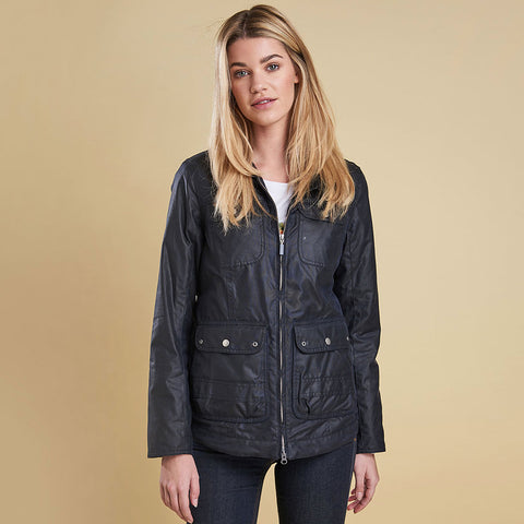 Barbour Filey Wax Jacket - ROYAL NAVY