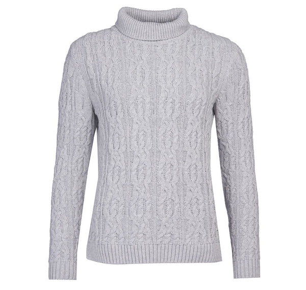 Burne Knit Pale Grey Marl