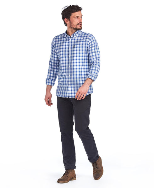 Highland Check 35 Tailored Shirt in White