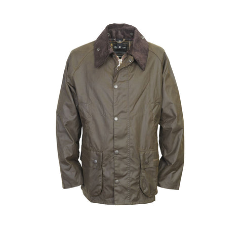 barbour bedale waxed cotton jacket olive