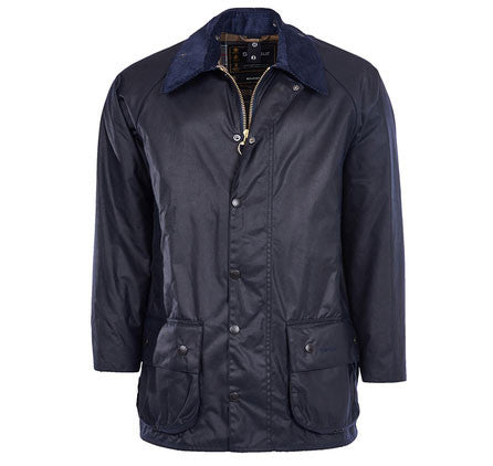Barbour Beaufort wax jacket navy