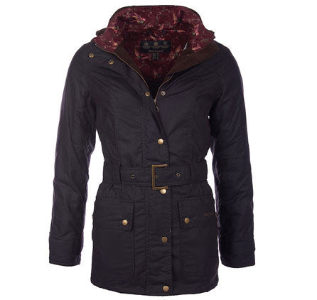 Barbour Bower belted wax jacket rustic