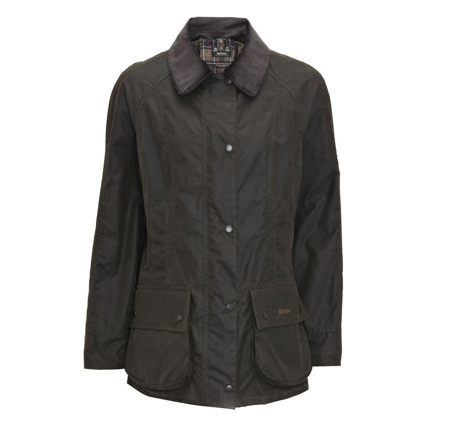barbour classic beadnell waxed jacket olive