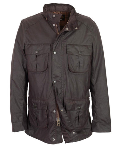 barbour corbridge waxed jacket rustic