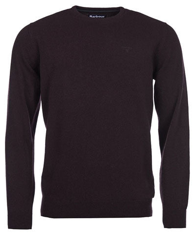 Barbour Essential crew neck jumper dark cordovan
